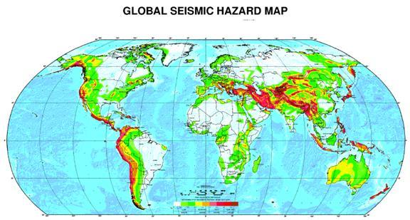 نقشه جهانی خطر زلزله